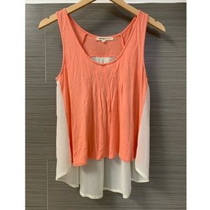 Foreign Exchange Sheer Back Top Perfect for Summer